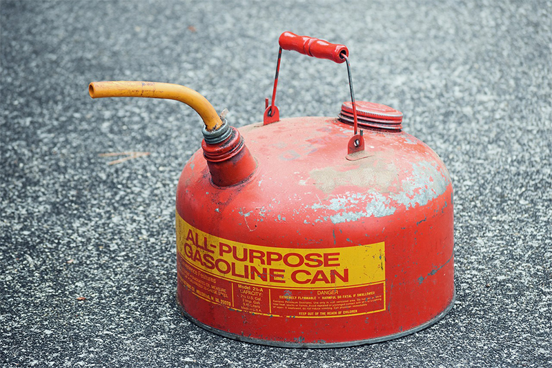 Gasoline | USPS prohibited and restricted items